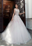 Bretelles robe de mariée robe de mariée de dentelle de tulle Puffy Yao80