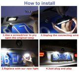 Luces LED 5W la placa de matrícula para el VW Golf VI Variant 2010, y de 2012 (HS-LED-006)