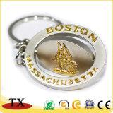 금에 의하여 돋을새김되는 로고를 가진 금속 열쇠 고리 질 동전 열쇠 고리