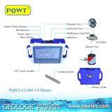 Processo poderoso portátil dos dados do detetor de escape Pqwt-Cl400 da água em encontrar o escapamento 4m da tubulação