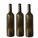 750ml verde/obscuridade - verde/frasco de vinho redondo vidro verde da antiguidade