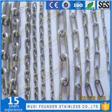 Corrente de ligação coreana do aço inoxidável do fundador da manufatura de China