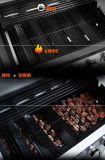Het in het groot 5-branders OEM OpenluchtBinnenplaats en het Kamperen BBQ van het Gas Karretje van de Grill met ZijBrander