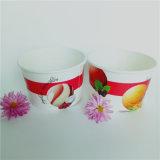 Parede simples papel de sorvete descartáveis Cup com tampas de papel