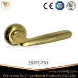La quincaillerie de porte Poignée du levier de la porte d'or en laiton sur Rose (Z6253)