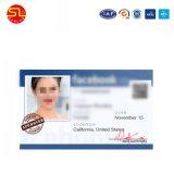 Escola de plástico de RFID Impressão Duplo Cartão de identificação com fotografia para o aluno