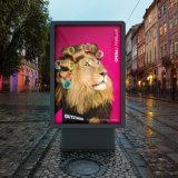 Étalage en aluminium de Lightbox de défilement de cadre léger de la publicité extérieure