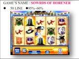 Horener-50ラインの剣 スロットゲーム・マシンのMachine&#160を賭ける硬貨によって作動させるゲーム・マシン;
