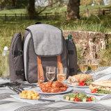 4 Personen-Picknick-Rucksack-Beutel mit Blanket&Cooler Fach