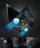 15.6 ordinateur portatif du faisceau I3/I5/I7 de l'ordinateur portatif 4GB DDR3 500GB de pouce
