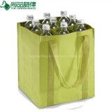 Рециркулированный выдвиженческий полиэфир Оксфорд мешок упаковки бутылки вина 9 пакетов