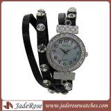 Uhr-vollständige Verkaufs-neue Art-Form-Leder-Band-Armbanduhr