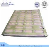 Alto piatto della mascella dei pezzi di ricambio del frantoio a mascella dell'acciaio del manganese