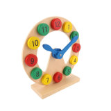 Juguetes de madera del rompecabezas del reloj de los números educativos de los niños