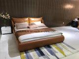 두바이 현대 침실 비품 두 배 가죽 연약한 침대