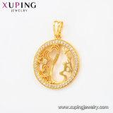 Xuping Form-populäre 24k Gold-Plated Blume - geformter Anhänger im Klimakupfer