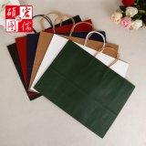 Hochwertiger Brown-Farben-Fertigkeit-Papier-Griff-Beutel hergestellt in China