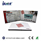Alibaba best-sellers de video en pantalla LCD de 4,3 pulgadas Card-Video Brochure-Paper Card