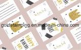 Película de aluminio de sellado caliente para las tarjetas/las escrituras de la etiqueta