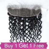 Les cheveux humains de Vierge en gros empaquettent la fermeture de frontal de 360 lacets