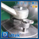 Suavidad de la vávula de bola de acero de carbón de Didtek asentada con el engranaje de gusano 150lb