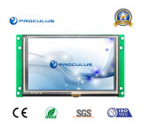 TFT LCD de 5 '' 480*272 Uart avec l'éclat du contact Screen+High de Rtp/P-Cap
