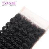 Encierro rizado rizado brasileño del cordón del envío libre del pelo de Yvonne