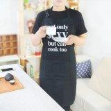 Venda a quente avental preto impressas avental de cozinha uniforme para o restaurante