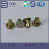 rebite de aço contínuo principal liso chapeado de 3.85X5.5mm zinco amarelo