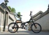 Vélo se pliant de bicyclette de pouvoir vert de batterie détachable électrique en aluminium de bicyclette