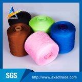 꿰매는 뜨개질을 하는 털실을%s 100%년 폴리에스테 다채로운 염색된 반지에 의하여 회전되는 털실