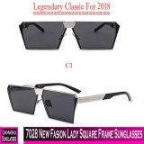 Senhora nova Quadrado Quadro Óculos de sol da forma 7028