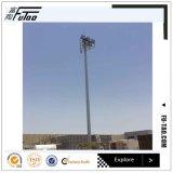 35m rond Haut de la Couronne de la lampe mât avec système de levage électrique