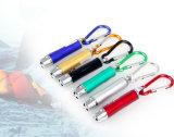 Trois-en-un voyant de la fonction&& Laster UV pointeur avec crochet Climing de montagne