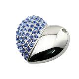 Movimentação de cristal brilhante da pena da vara da memória Flash do USB do diamante de Bling da jóia da forma da alta qualidade 8GB
