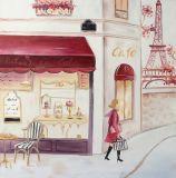 Het in het groot Zuivere Met de hand gemaakte Olieverfschilderij van de Impressionist met schittert