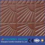 Panneaux de mur en cuir approuvés des forces de défense principale 3D de la CE pour le décor de mur