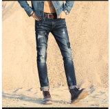 Estilo novo calças de brim de lavagem quebradas com projeto especial para o homem (HDMJ0010-17)