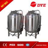 El tanque brillante de la cerveza del acero inoxidable de la venta con dos zonas de enfriamiento