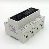 Type électrique d'affichage à cristaux liquides de mètre DIN de rial à quatre fils de Dts-4L trois Pahse