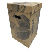 Kraftpapier-Drucken-Blumen-verpackenkasten mit Griff