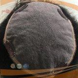 Encaje corto teñido de color marrón los nudos de los hombres peluca (PPG-L-02616)