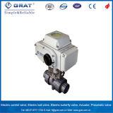 Ce IP67 Dn40 под действием электропривода ПВХ шаровой клапан с электроприводом Actutor