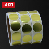 """Etiquetas de oro de la Ronda 1"""" puntos de codificación de color etiqueta adhesiva pegatinas de 500 Por Lod"""