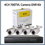 4CH de Uitrusting van de Camera DVR van de Veiligheid van kabeltelevisie van de 700tvlKogel