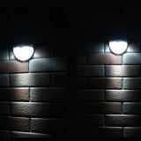 LED de 6 à prova de parede com luz solar Lâmpada da Barragem jardim exterior