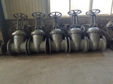 Россия ГОСТ12815 стандартные литые стальные клин запорный клапан