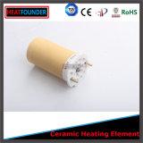Elemento calefactor cerámico redondo negro