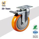 3 pouces avec Roulette industrielle TPR Roue, Roulette pivotante avec frein ou de verrouiller l'ISO/SGS