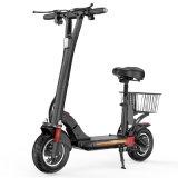 Opvouwbare elektrische scooter met opvouwbare E-Scooter in nieuwe stijl Goederenmand